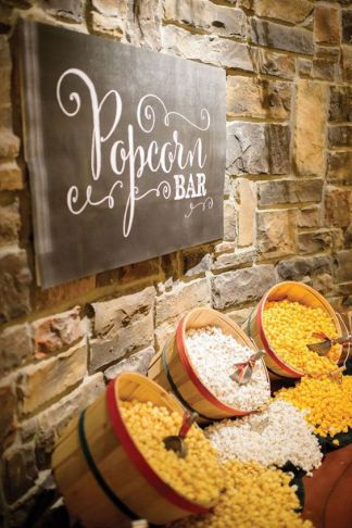 Popcorn bar for the couple who loves movies!