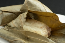 Sticky Rice with abalone and chicken in lotus wrap
